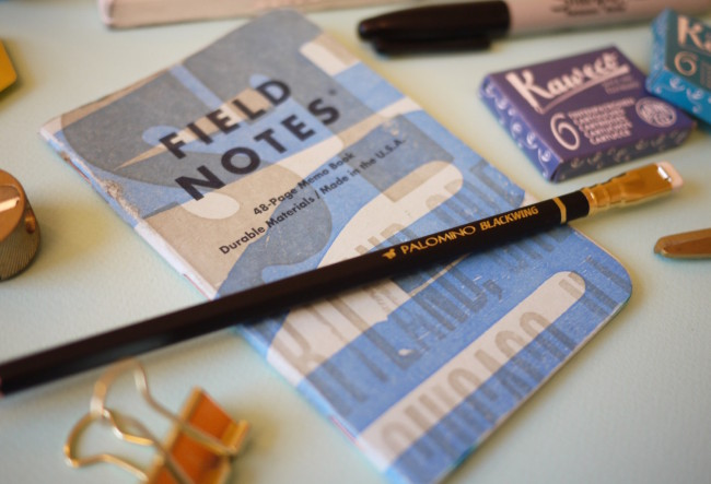 Field Notes, Kaweco and Blackwings stationery