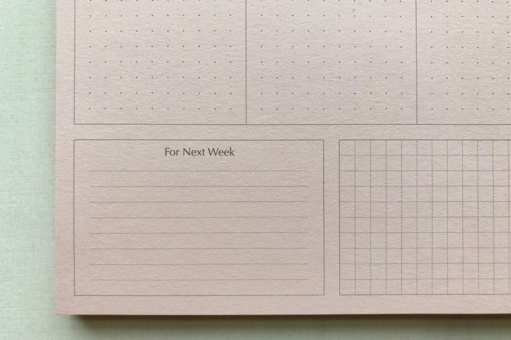 Detail of The Stationer  Mini Shapes Planner Pad